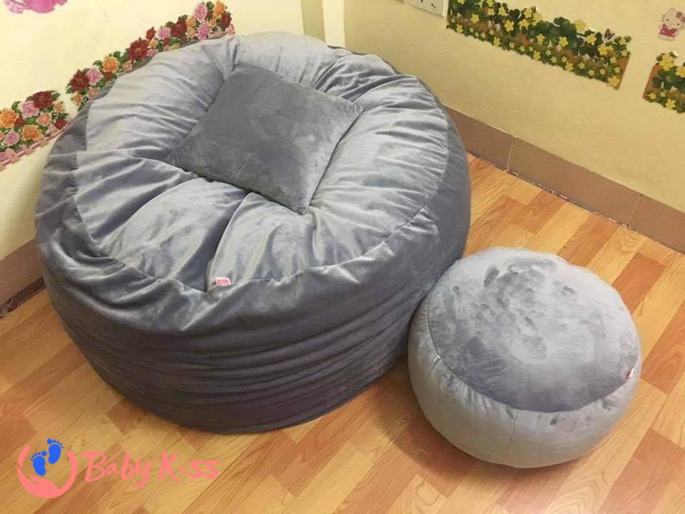 Gối lười ghế lười hạt xốp hình tròn uy tín chất lượng giá rẻ HCM