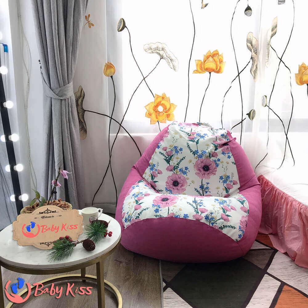 Ghế lười giá rẻ đẹp nhất (gối lười ghế lười hạt xốp quả lê) dành tặng người lớn