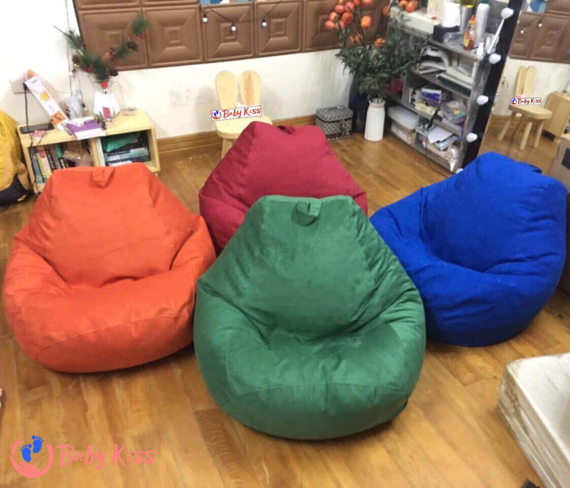 Kích thước ghế lười hạt xốp Size S