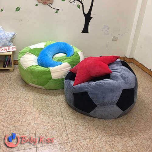 ghế lười hạt xốp cho trường mầm non (nhà trẻ) hình quả bóng