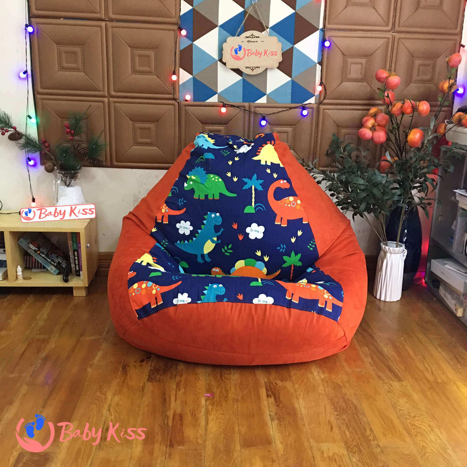 ghế lười hạt xốp cho trường mầm non (nhà trẻ) hình quả lê