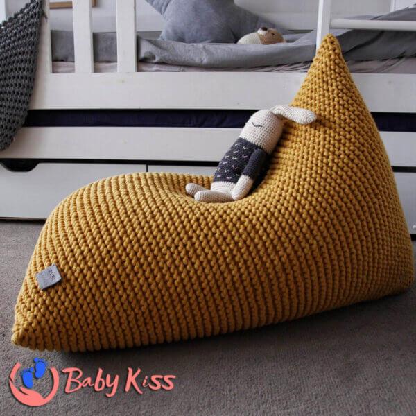 Gối lười ghế lười dệt kim dáng thuyền ghế lười hạt đậu giá rẻ số 1 HCM
