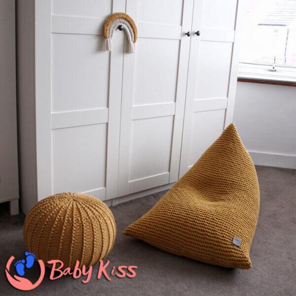 Gối lười ghế lười dệt kim dáng thuyền ghế lười hạt đậu giá rẻ số 1 TPHCM