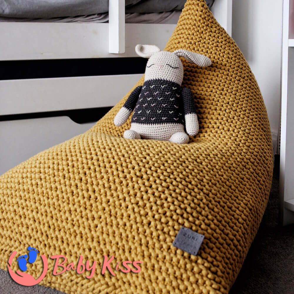 Gối lười ghế lười dệt kim dáng thuyền ghế lười hạt đậu giá rẻ