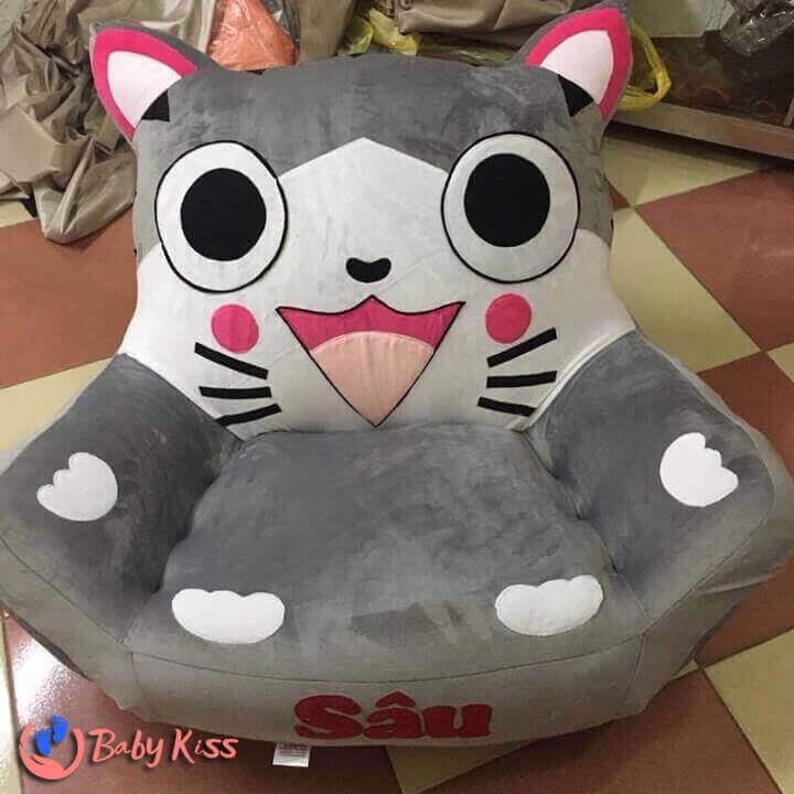 Ghế lười hạt xốp hình thú con mèo